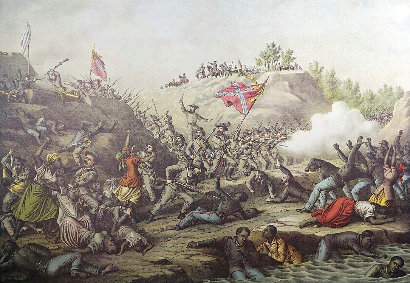 a history of the fort pillow massacre in the american civil war Choose from 500 different sets of chapter 11 section 3 us history flashcards on quizlet log in sign up  what happened at fort pillow, tennessee  civil war nurse who later founded the american red cross.