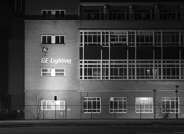 File Ge Lighting Factory By Night Geograph Org Uk 620765