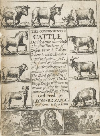 ''Government of Cattle'', 1662 edition. The portrait of Mascall is by [[Richard Gaywood
