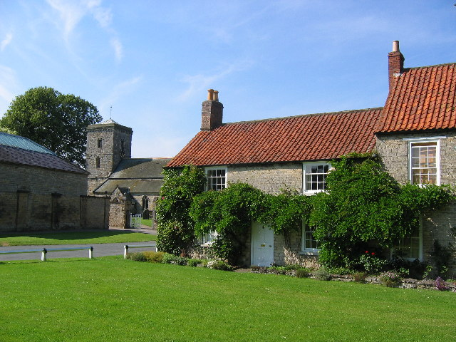 Hovingham - Cottages and church - geograph.org.uk - 25924