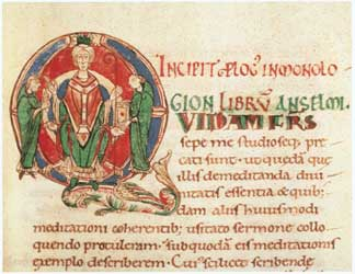 Soubor:Illuminated initial from Anselm's Monologion.jpg