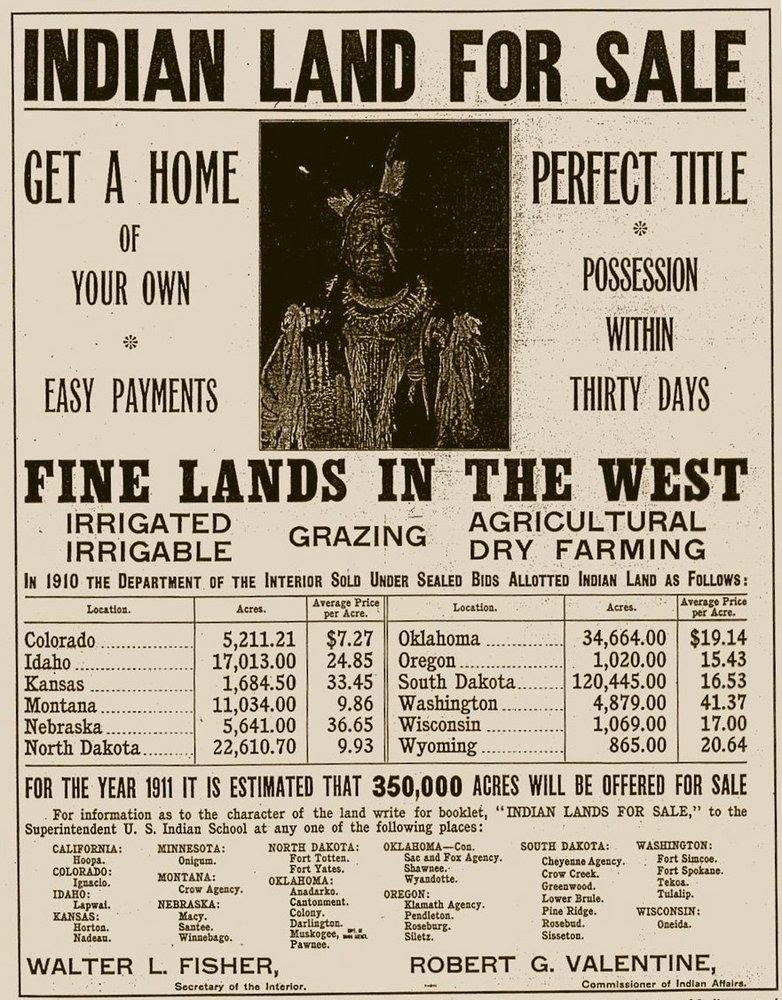 Department of the Interior advertisement, 1910