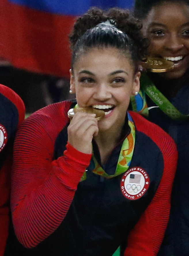 Laurie Hernandez earned a  million dollar salary - leaving the net worth at 0.2 million in 2017