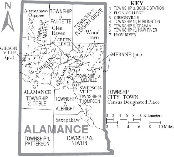 File:Map of Alamance County North Carolina With Municipal and