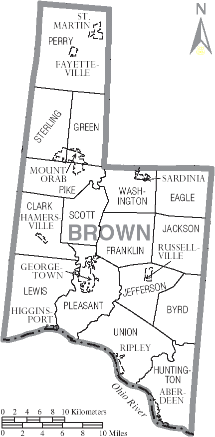 File Map Of Brown County Ohio With Municipal And Township Labels Png