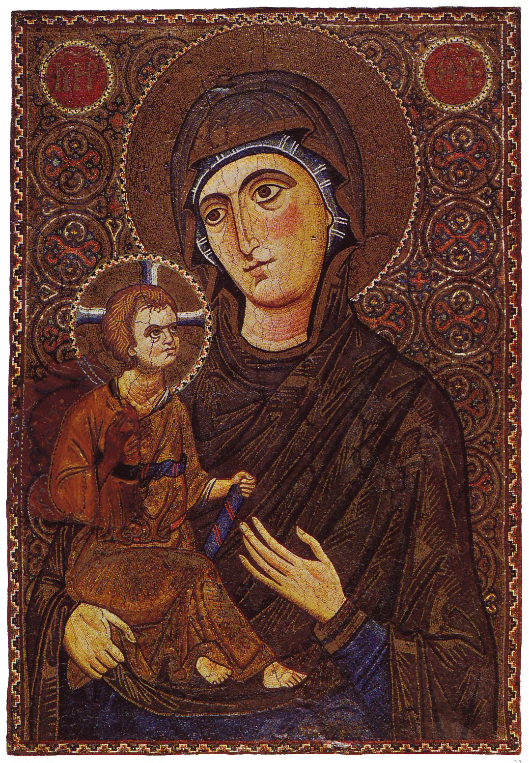 Mary_&_Child_Icon_Sinai_13th_century.jpg (1077×1552)