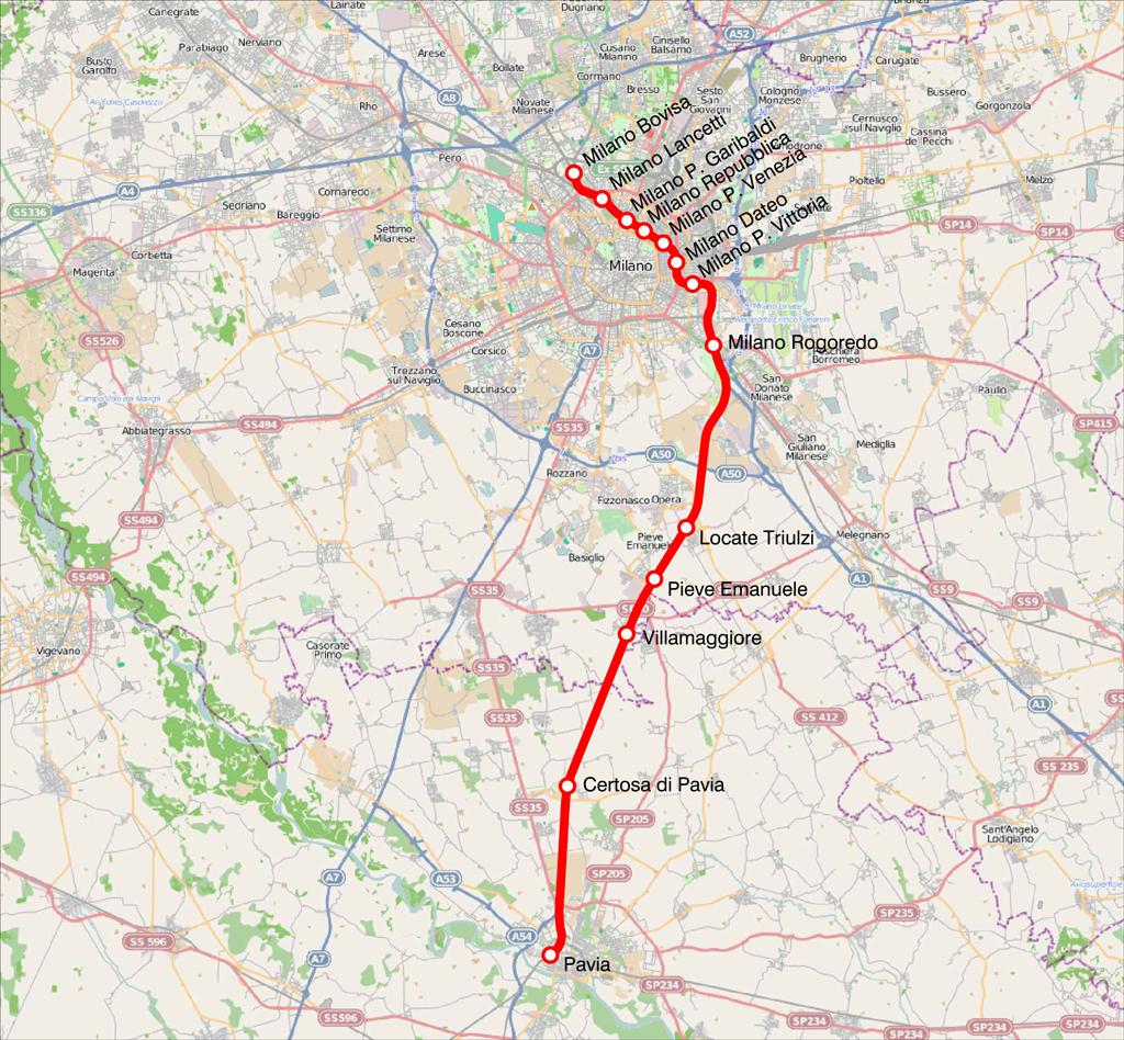Line S13 Milan suburban railway service Wikipedia