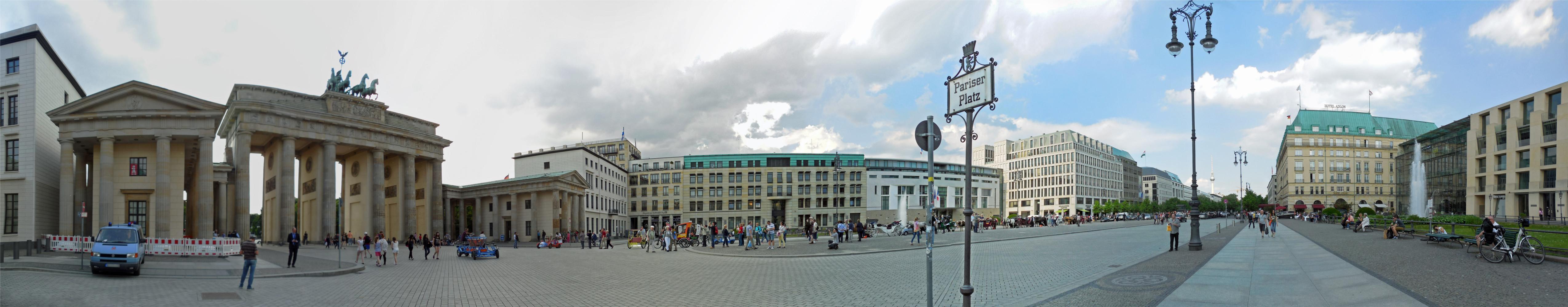 Bildergebnis für pariser platz panorama