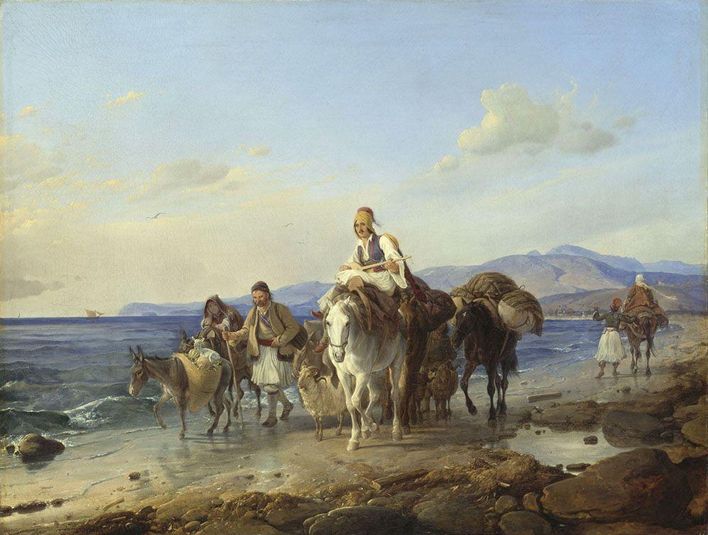 Петер фон Гесс - Griechische Landleute am Meeresstrand - WAF 357 - Bavarian State Painting Collections.jpg