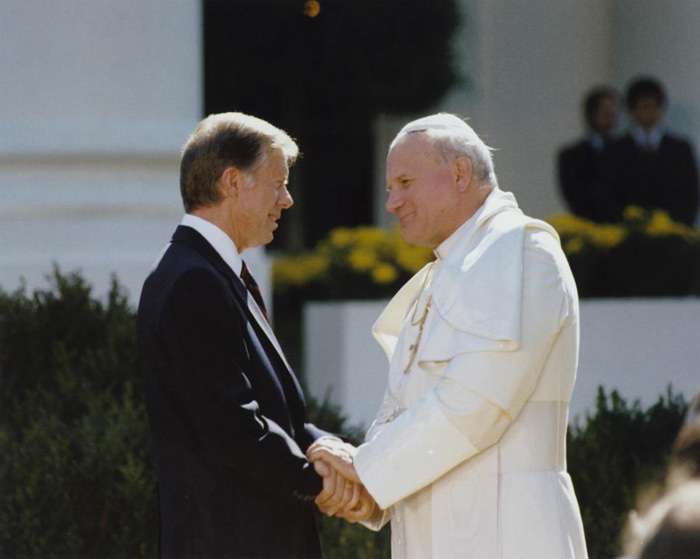 Image result for visit of John Paul II to the White House.
