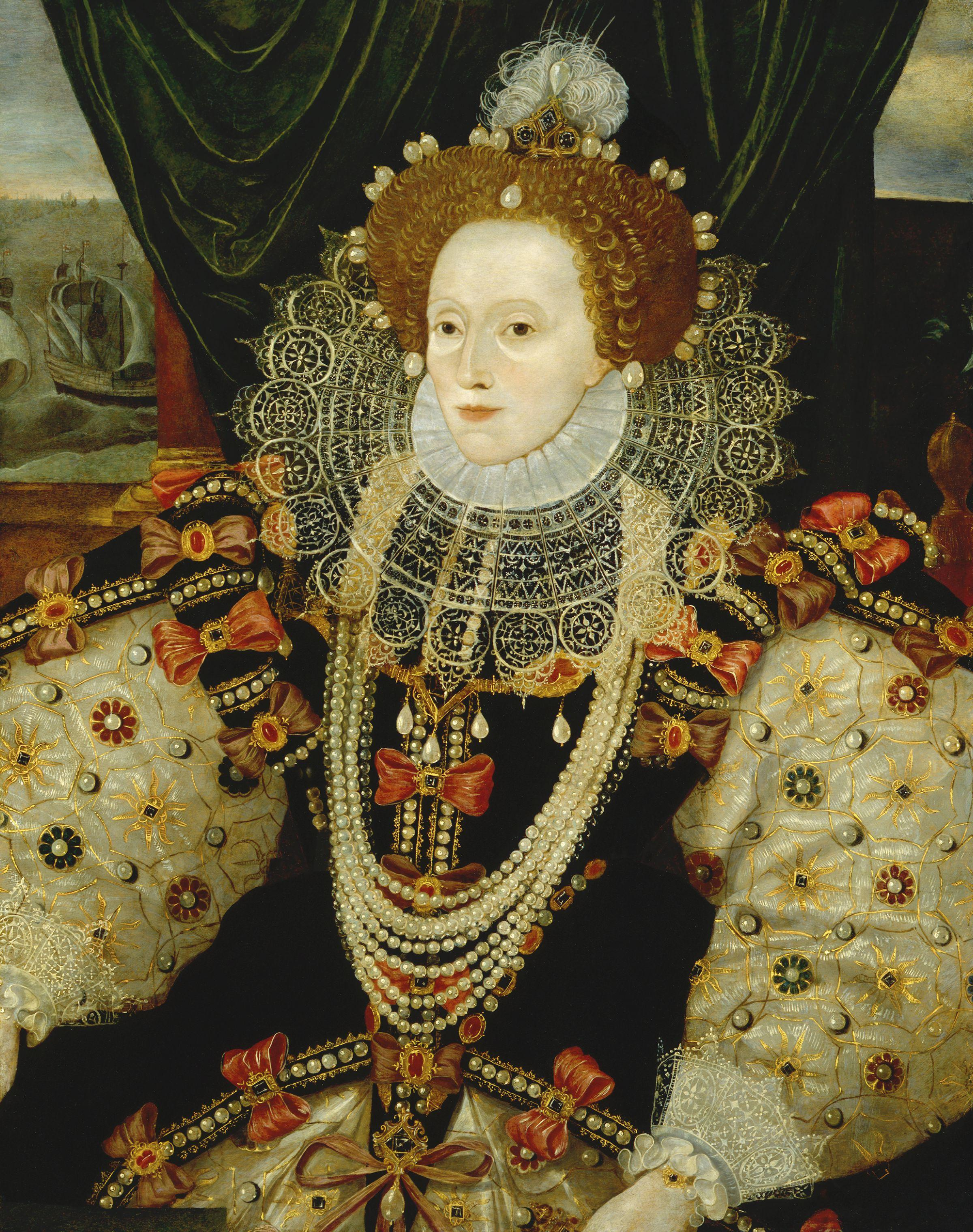 Description Queen Elizabeth I by George Gower.jpg