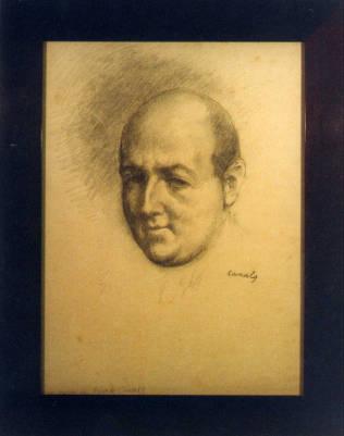 Retrato de Josep Maria de Sagarra, de Ricard Canals i Llambí. Colección de arte del MAE