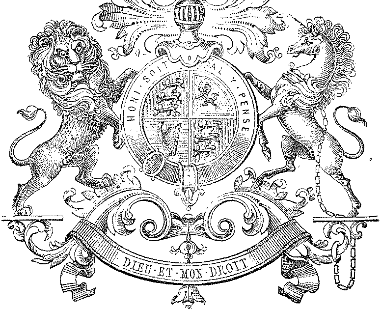 Royal coat of arms black and white