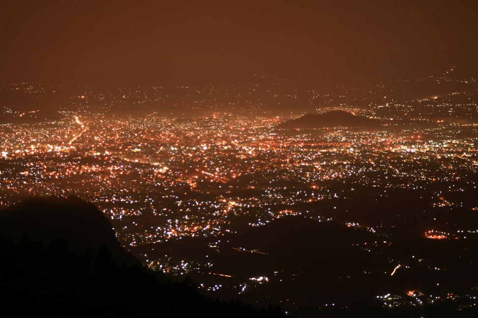 Late night view of Salem city from Yercaud.