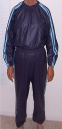 A typical sauna suit