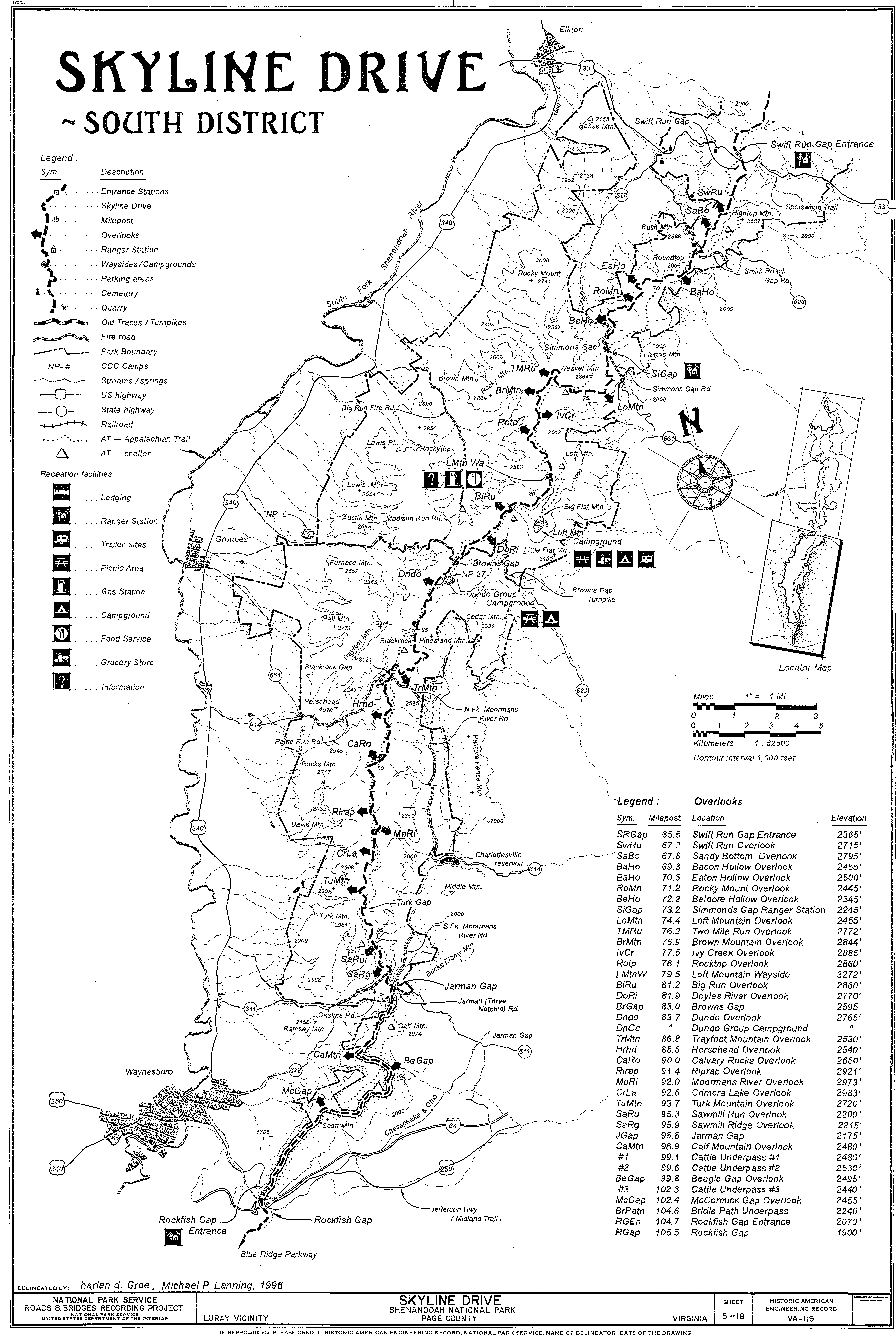 Skyline Drive Map File:Skyline Drive   Map 3   South District.   Wikimedia Commons Skyline Drive Map