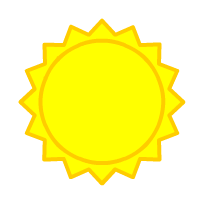 English: sun, weather forecast symbol