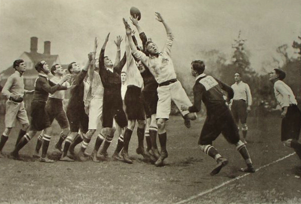 Photo of a Rugby Match, South Africa vs. Cambridge (1906)
