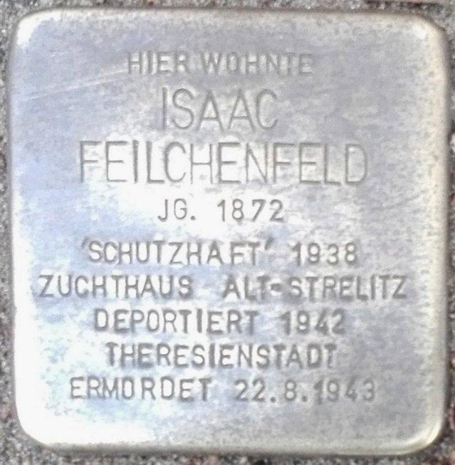 Stolperstein Parchim Feilchenfeld Isaac.jpg