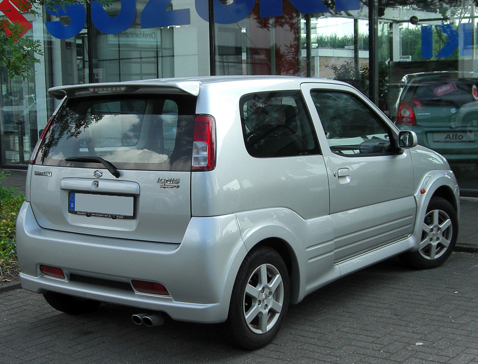 file suzuki ignis sport i rear wikimedia commons. Black Bedroom Furniture Sets. Home Design Ideas