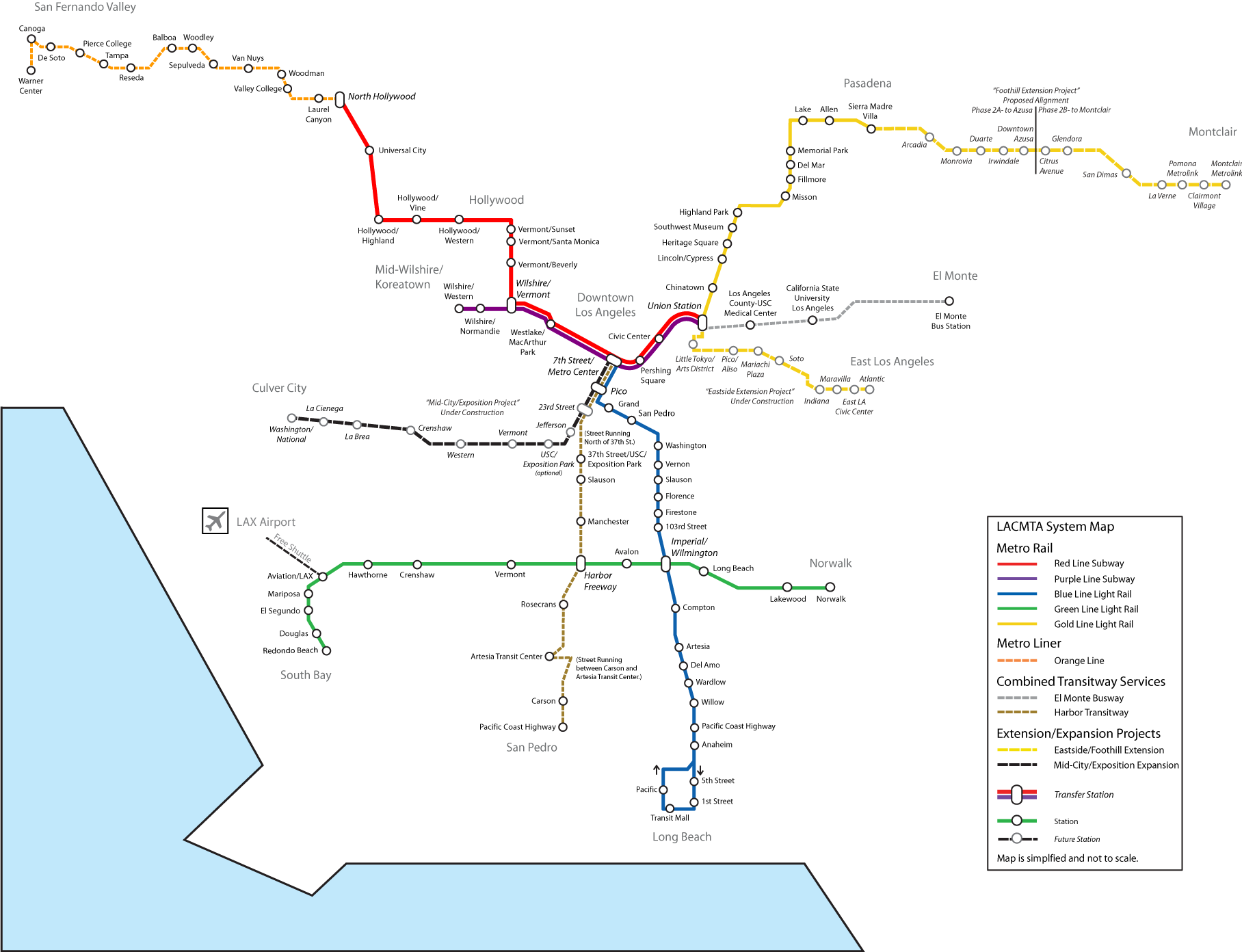 File System Map Future Of The Los Angeles County Metro System Png