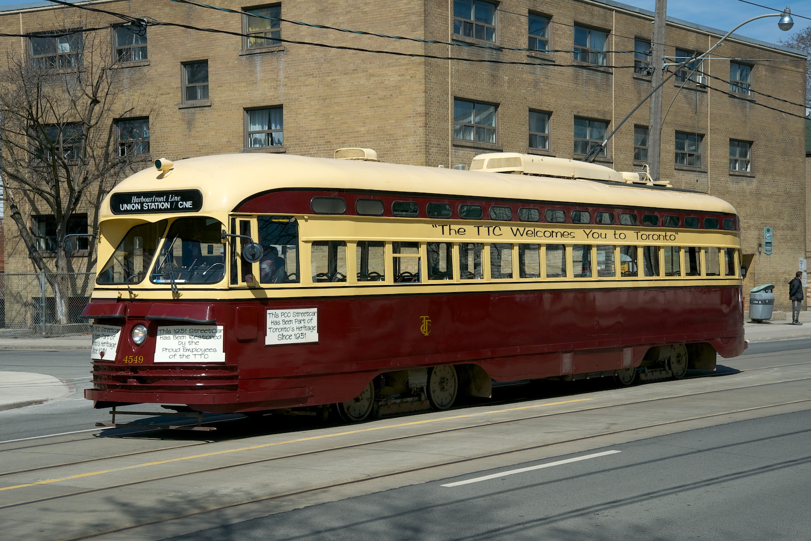 File:TTC PCC car 4549 was part of a parade of 4 generations of streetcars