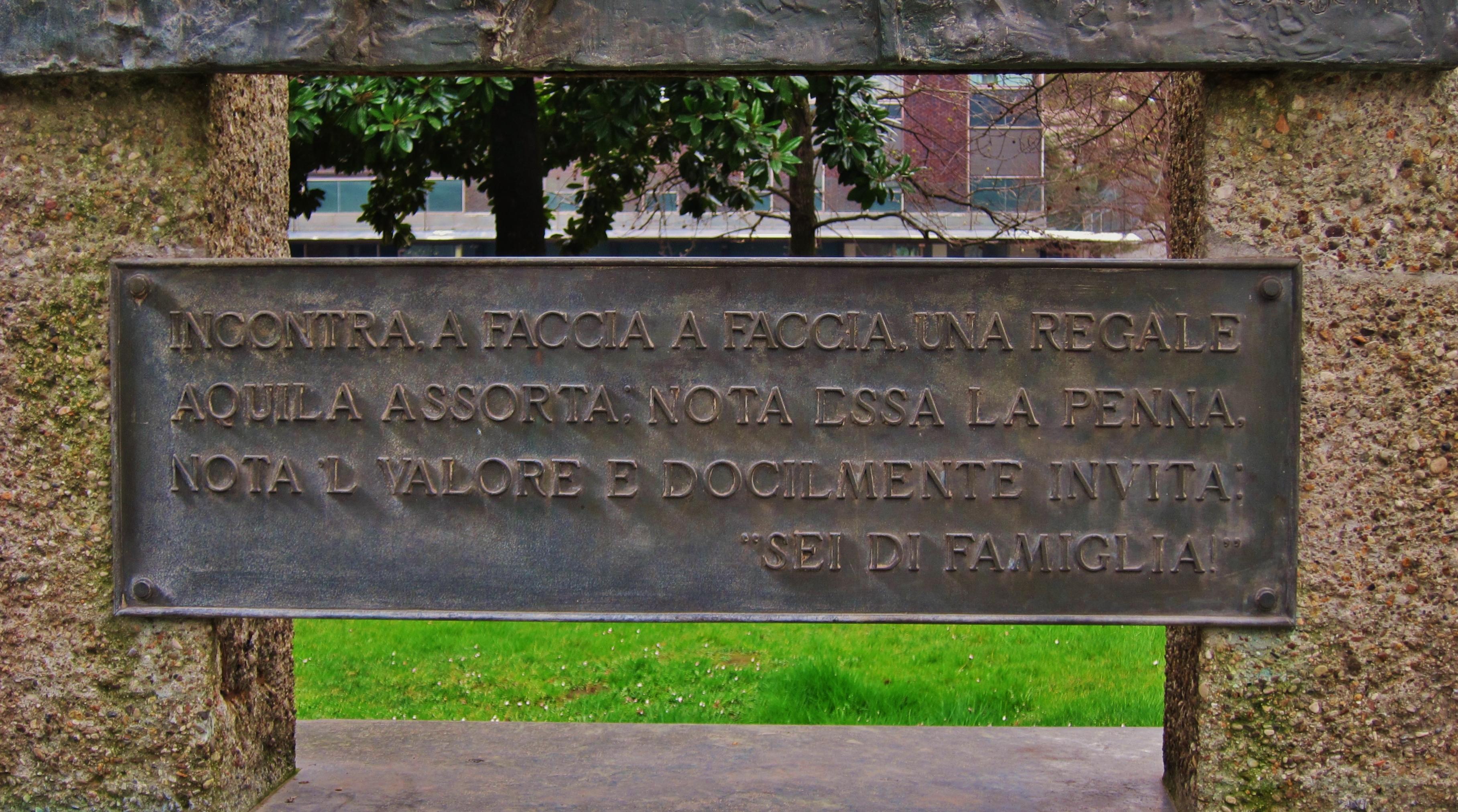 FileTarga Con Dedica Poetica Per Il Monumento Per Il Centenario