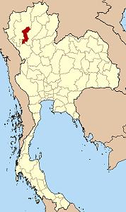 ラムプーン県の位置
