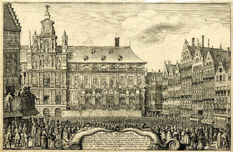File:The Peace of Munster view of square in front of Antwerp townantwerp town