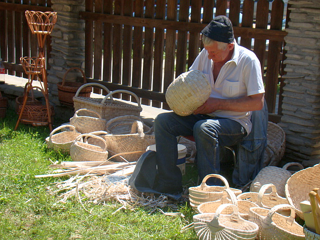 File:The basket maker. Skansen in Sanok..png