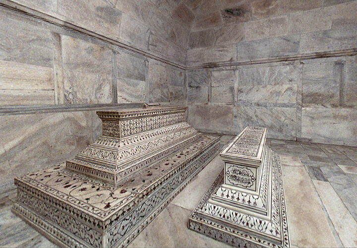 Gräber vom König Shah Jahan und seiner geliebten Frau Mumtaz Jahan