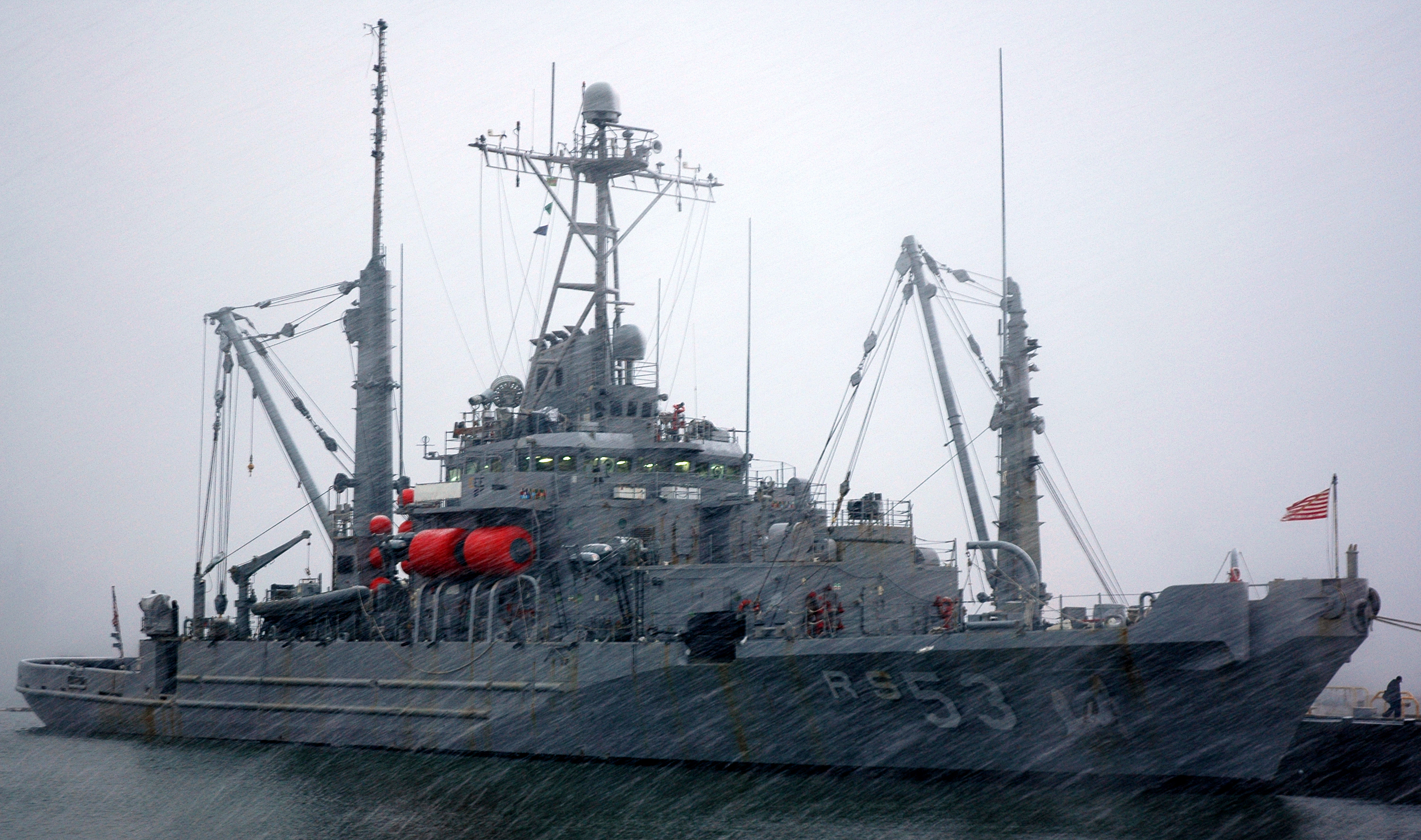 Removal Operations Continue for Navy Mine Ship on ... |Navy Salvage Ships