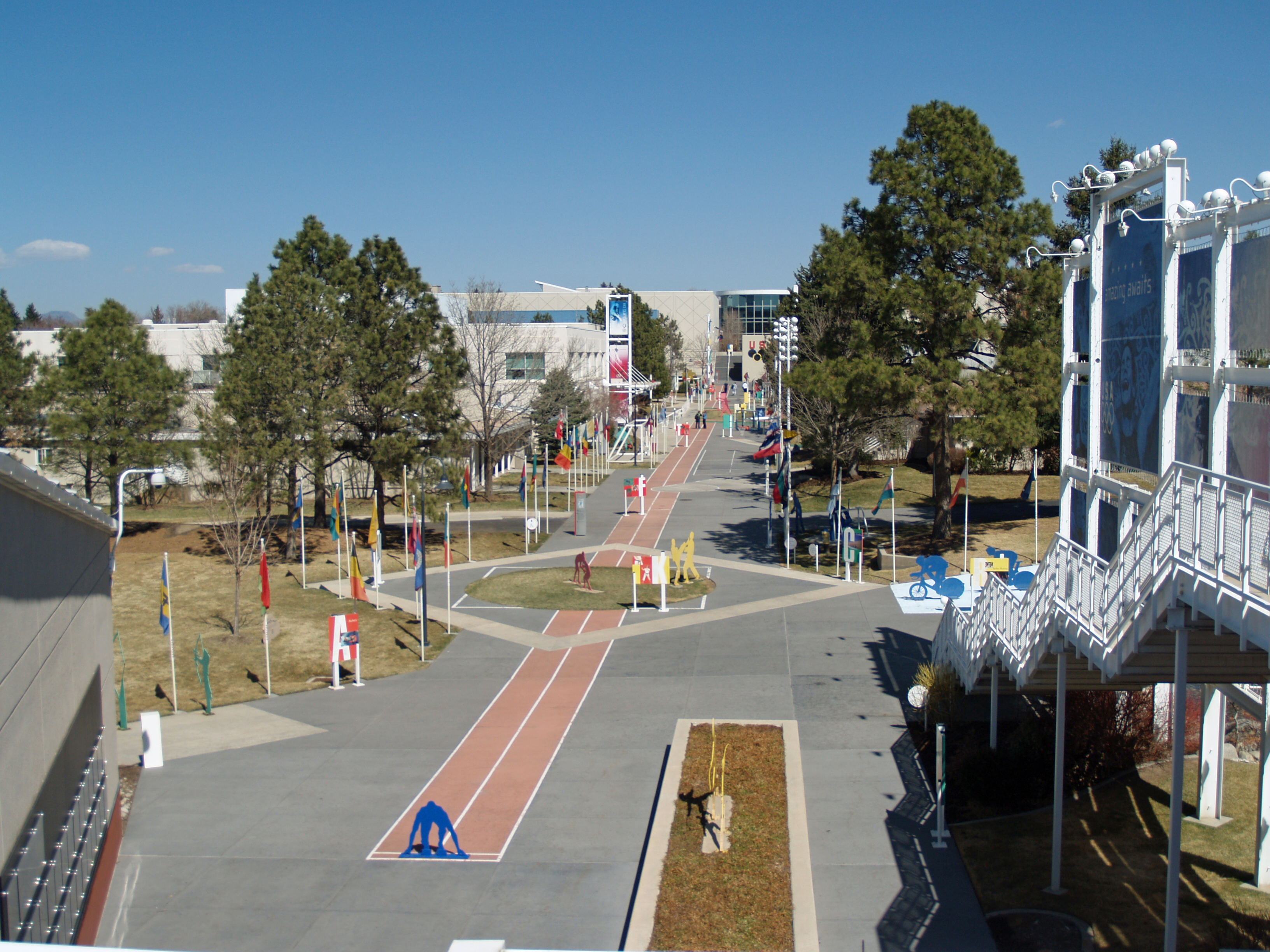The grounds of the training facilities in Colorado Springs.