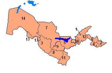 Political Map of Uzbekistan