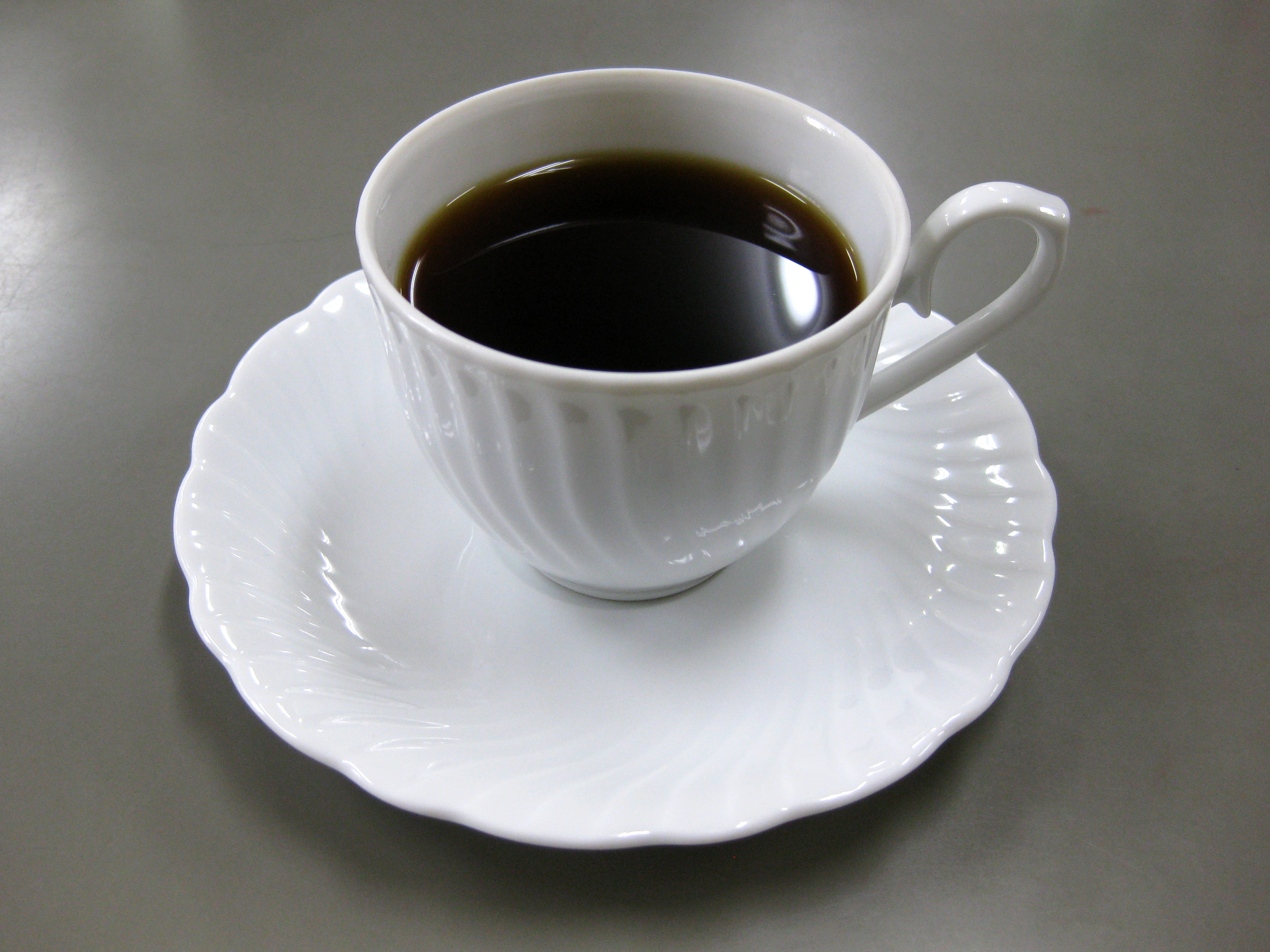 File White Cup Filled With Coffee Jpg