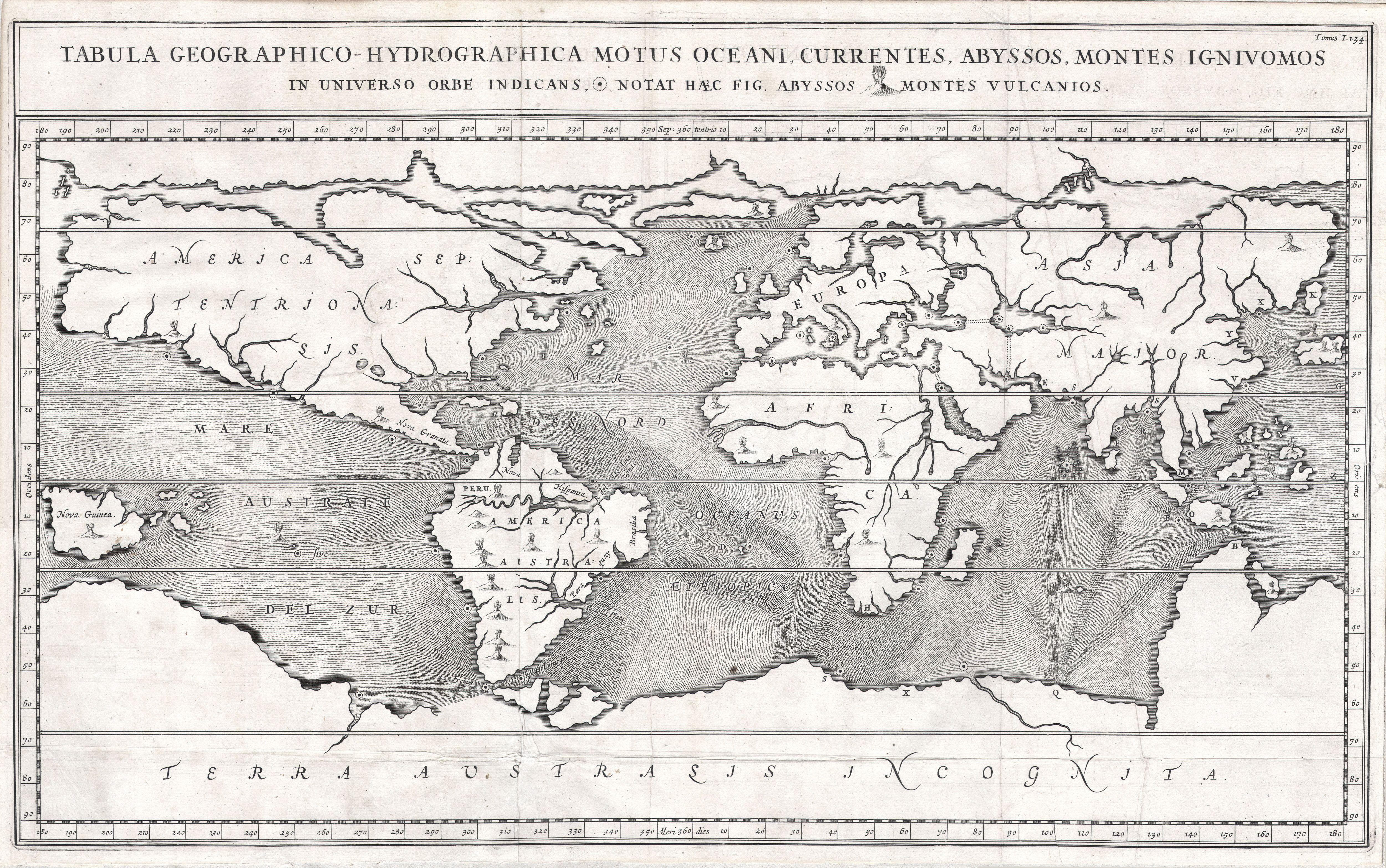 Show The Map Of World.File 1665 Kircher Map Of The World Earliest Map Of World To Show