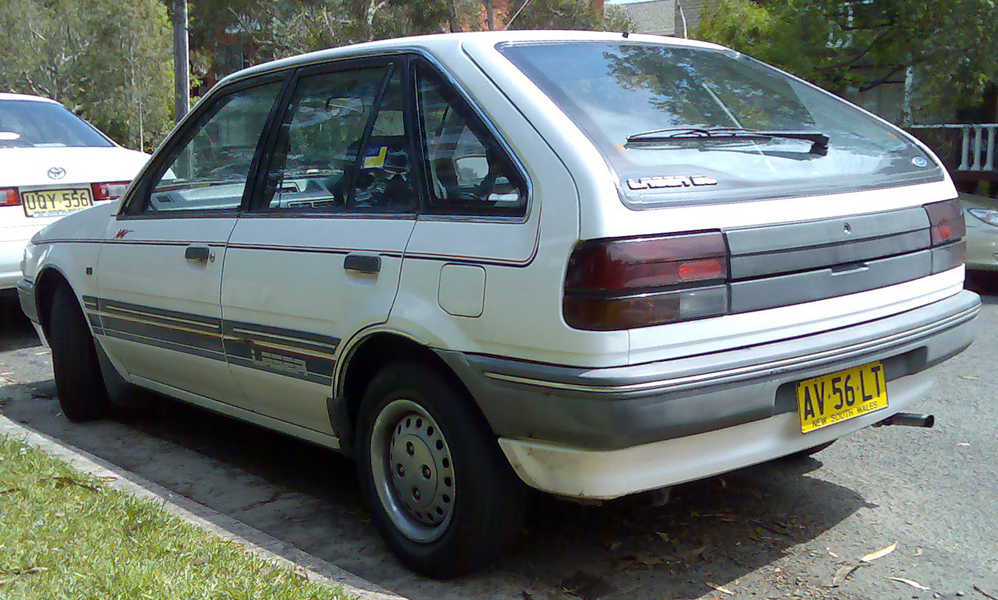 File 1987 1990 Ford Laser Ke Gl 5 Door Hatchback 03 Jpg