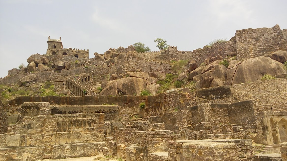 Golconda Fort near Hyderabad city