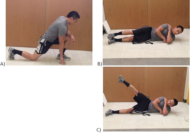 hip flexors exercising