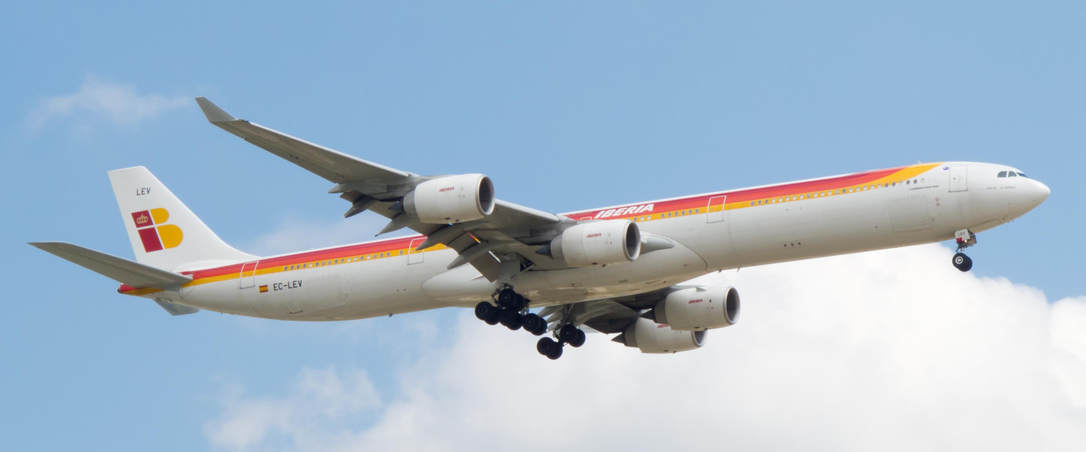 File:Airbus A340-642 - Iberia - EC-LEV.jpg - Wikimedia Commons: https://commons.wikimedia.org/wiki/File:Airbus_A340-642_-_Iberia_...