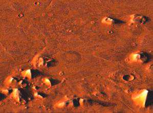 la grenouille, le canard et le lézard sur Mars Area_Cydonia