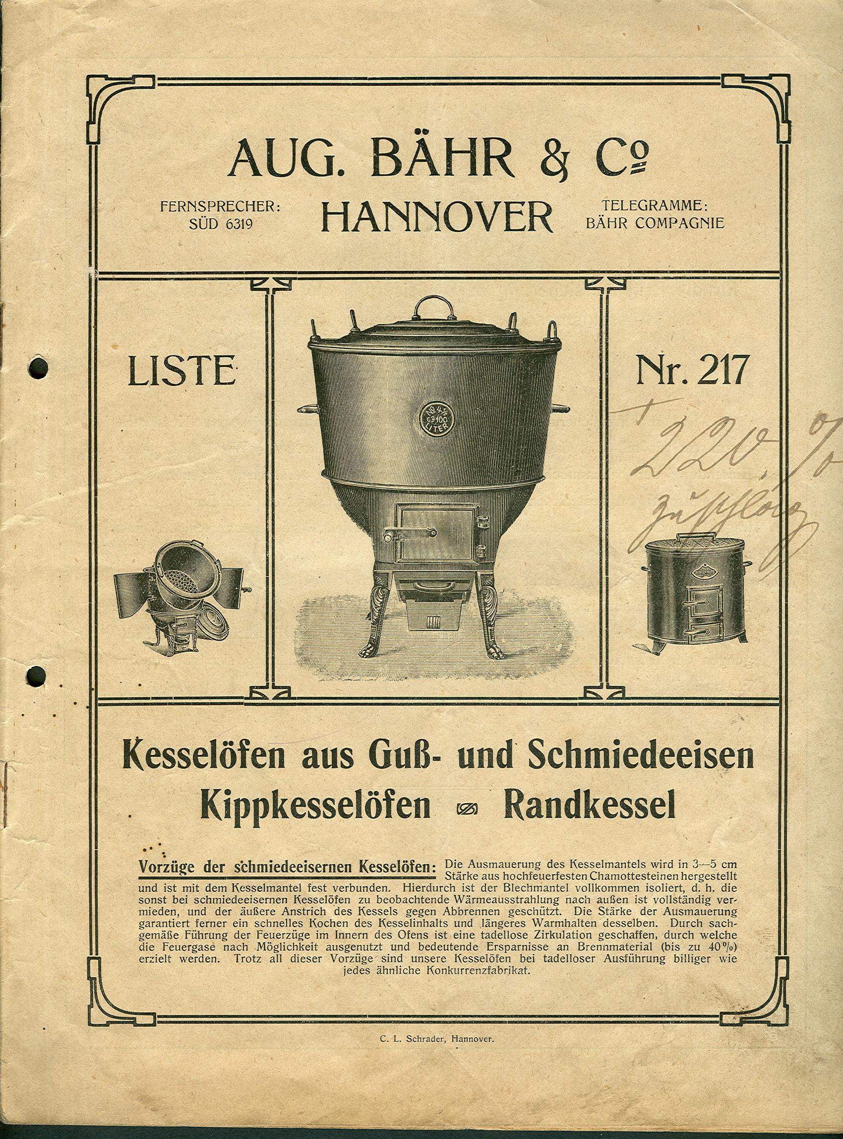 File:Aug. Bähr & Co. Hannover Liste Nr. 217 Kesselöfen aus Guß- und ...