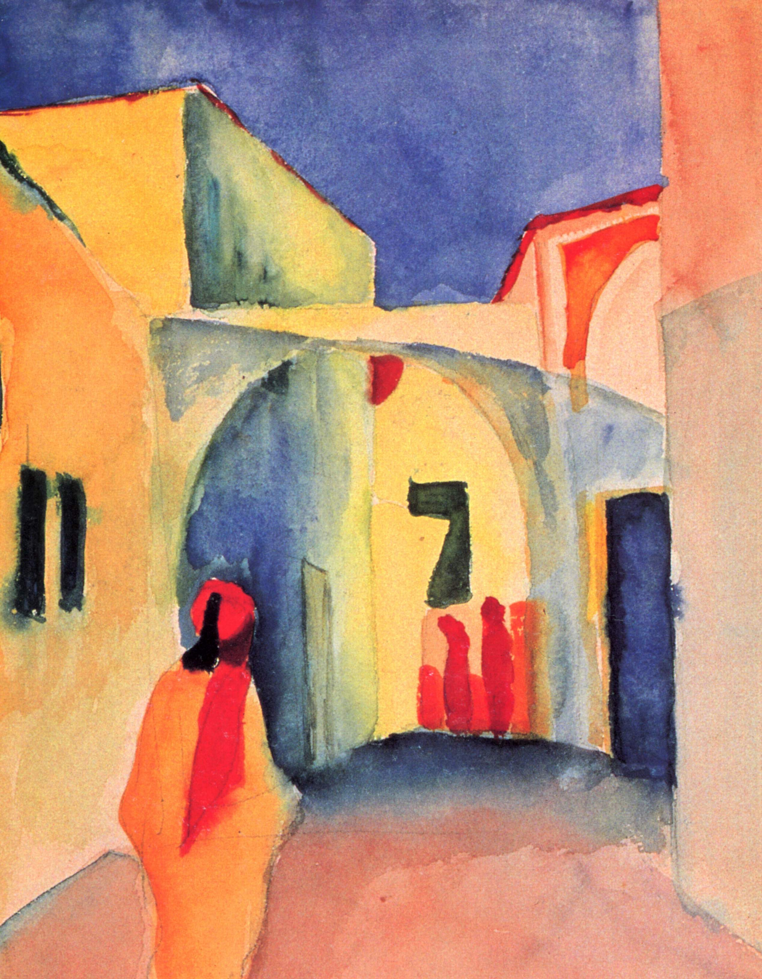 1910 August Macke Tegernsee Landscape Anagoria New House Art Poster Reproduction