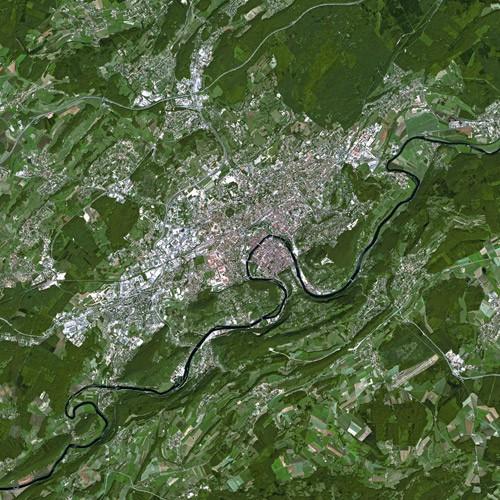 Besançon seen by Spot Satellite