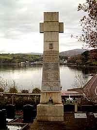 Betelgeuse memorial, St Finbarr's Church graveyard, Bantry – overlooking Bantry Harbour