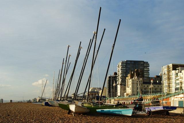 File:Boats on Brighton Beach - geograph.org.uk - 1636710.jpg