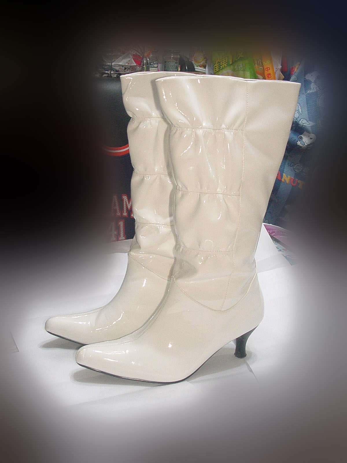 White Leather Work Shoes