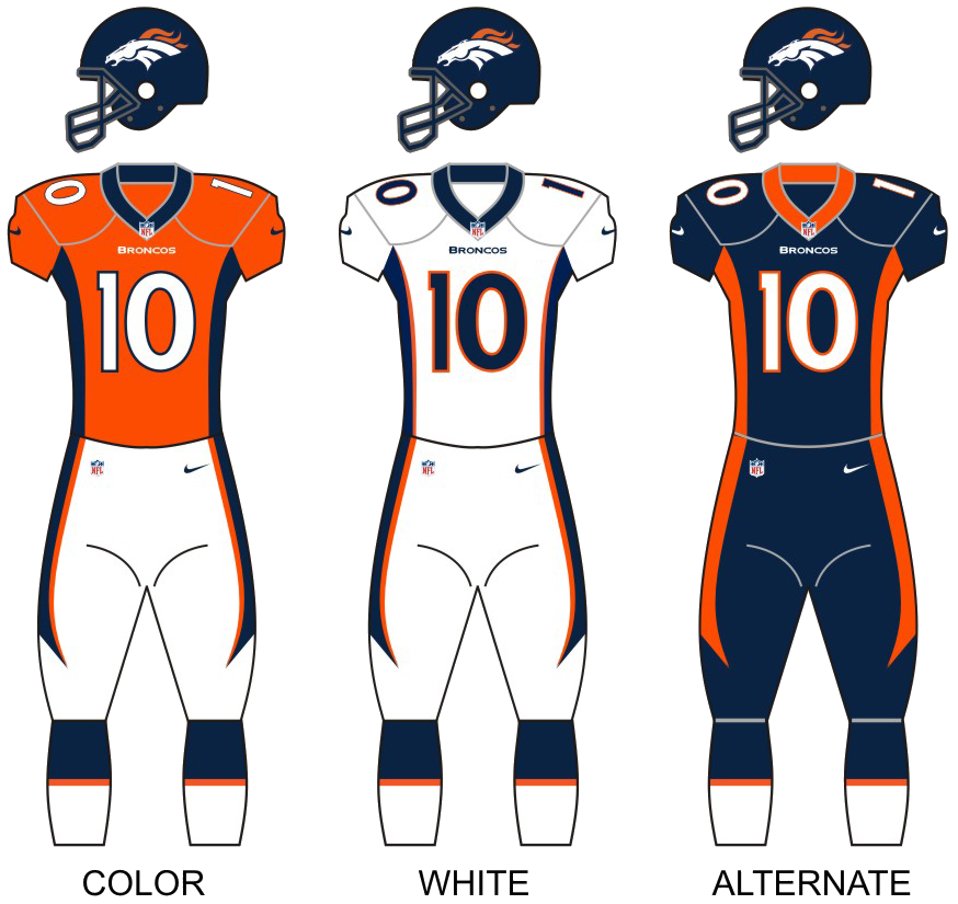 broncos jersey colors