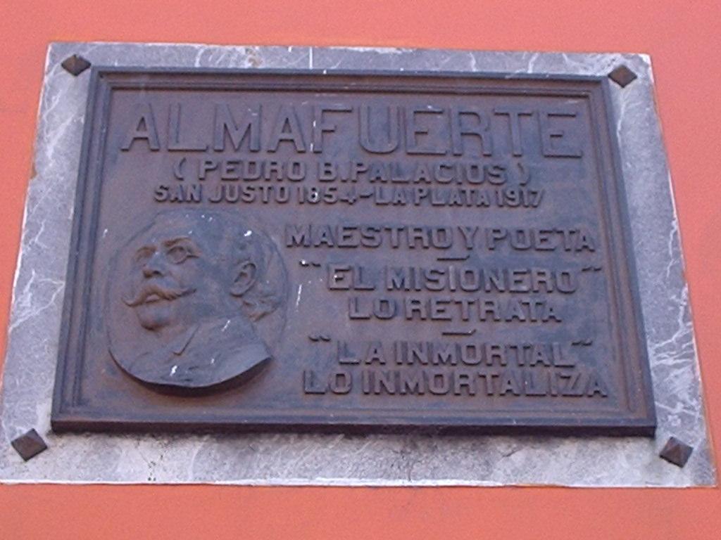 Imposición del nombre Almafuerte a la calle 43 en La Plata.