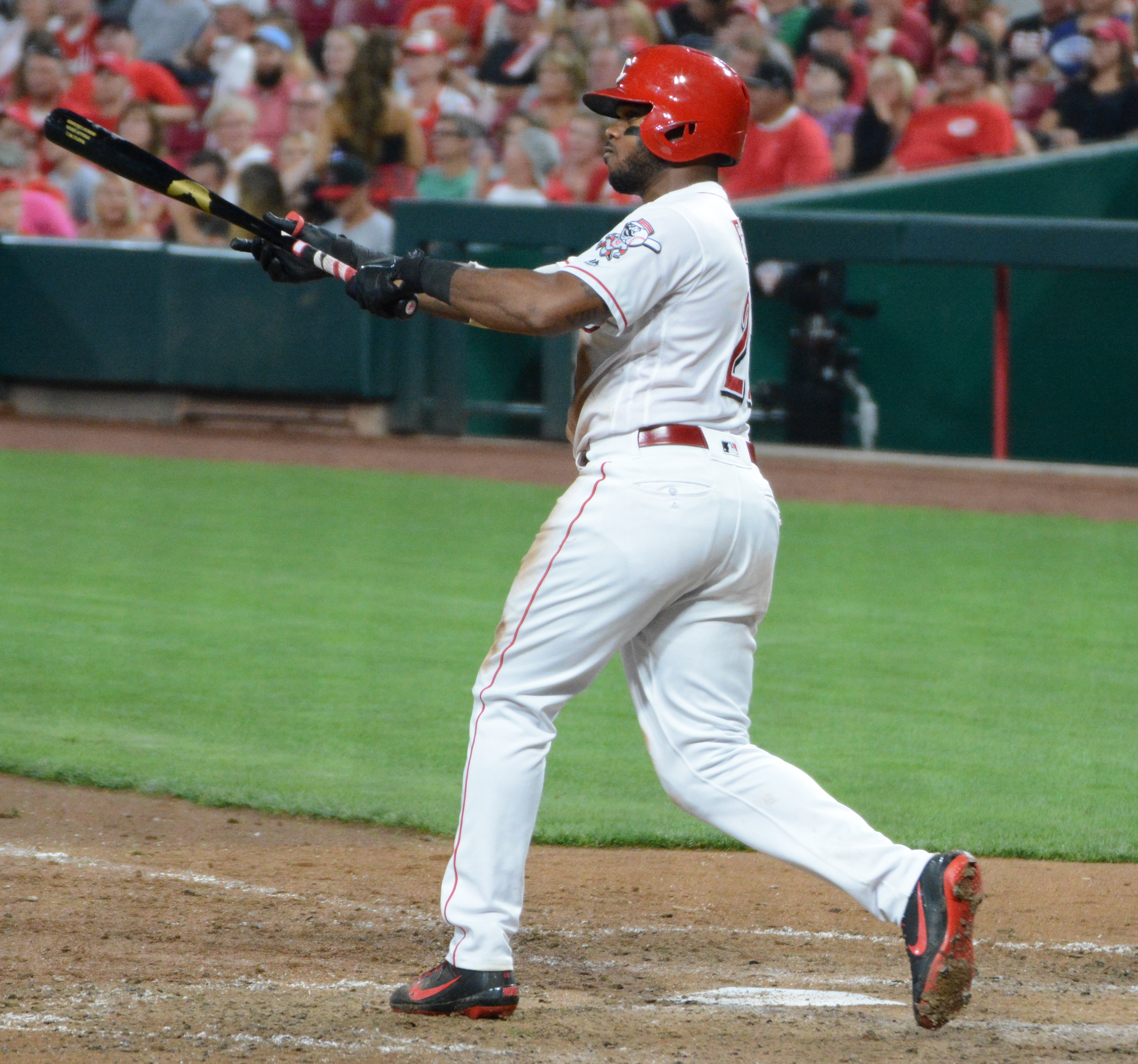 August 15, 2019 -- The Reds beat the Cardinals at home, 2 to 1. The Reds top hitter was Phillip Ervin and starting pitcher was Sonny Gray.
